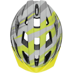 UVEX Air Wing CC Helmet Kids, grey/lime matt